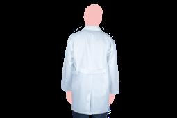 bata laboratorio manga larga espaldas