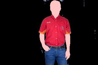 camisa combinada frente