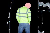 camisa manga larga con reflejantes espalda