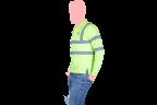 camisa manga larga con reflejantes lateral