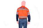 camisa nitro anaranjada espaldas