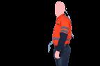 camisa nitro anaranjada lateral