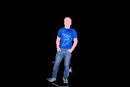 camisa power azul frente