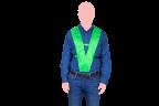 chaleco de seguridad verde frente 2