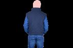 chaleco ejecutivo azul marino espaldas