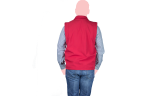 chaleco ejecutivo rojo espaldas