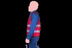 chaleco rojo cocacola cierre negro lateral