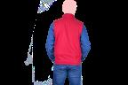 chaleco rojo cocacola cierre rojo espaldas