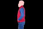 chaleco rojo cocacola cierre rojo lateral