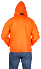 chamarra naranja rompe vientos espalda