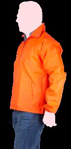 chamarra naranja rompe vientos lateral