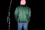 chamarra verde espalda