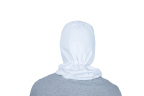 cofia blanca espalda