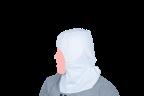 cofia blanca lateral