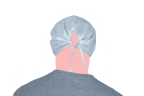 cofia enfermero espalda