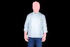 filiphina chef blanca con botones blancos frente
