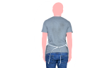 mandil blanco liso espalda