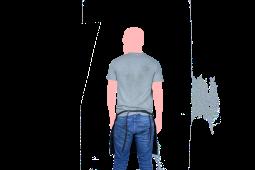 mandil corto negro espalda